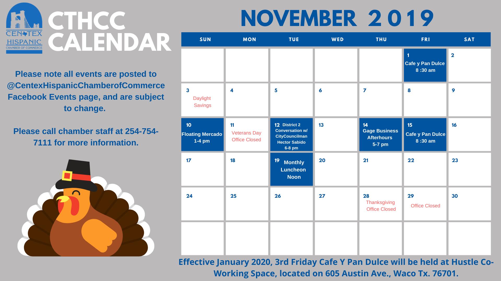 CTHCC November Calendar FB